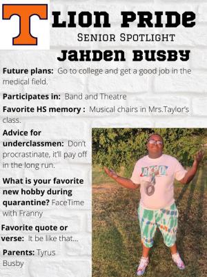 Jahden Busby Senior Spotlight Information