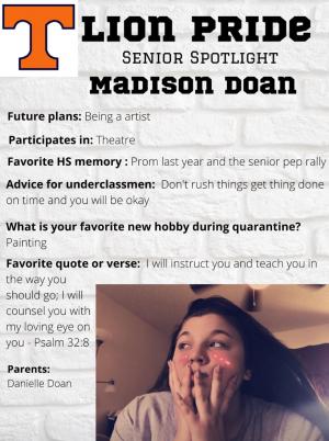 Madison Doan Senior Spotlight Information