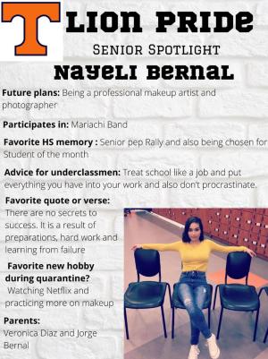 Nayeli Bernal Senior Spotlight Information