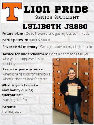 Lylibeth Jasso Senior Spotlight Information