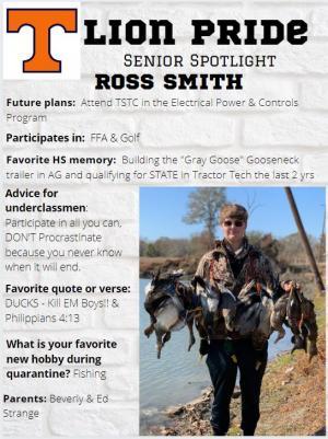 Ross Smith Senior Spotlight Information