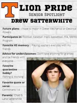 Drew Satterwhite Senior Spotlight Information