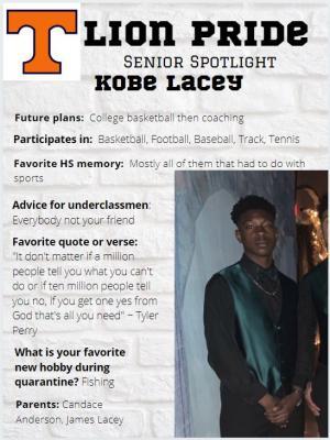 Kobe Lacey Senior Spotlight Information