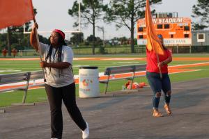 Color Guard @ Pep Rally 9/10/21