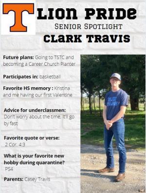 Clark Travis Senior Spotlight Information