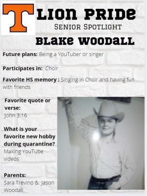 Blake Woodall Senior Spotlight Information