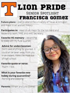 Francisca Gomez Senior Spotlight Information