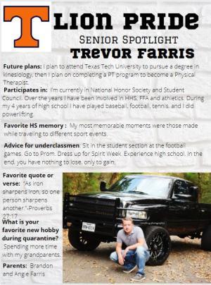 Trevor Farris Senior Spotlight Information