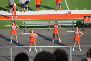 JV Cheerleaders THS JV vs. Lago Vista 9/2/2021