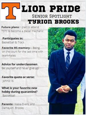Tyrion Brooks Senior Spotlight Information