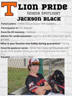 Jackson Black Senior Spotlight Information