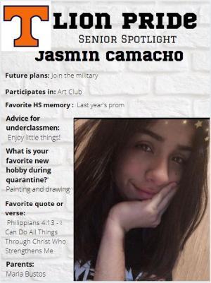 Jasmin Camacho Senior Spotlight Information