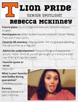 Rebecca McKinney Senior Spotlight Information