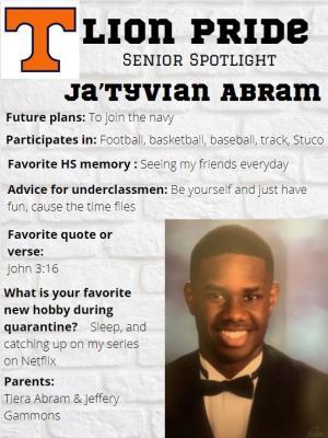 Ty Abram Senior Spotlight Information