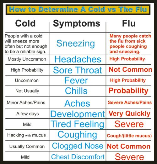 Cold vs. Flu Information