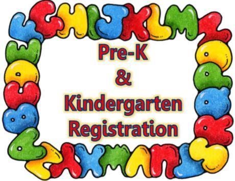 PreK Kinder Registration Button