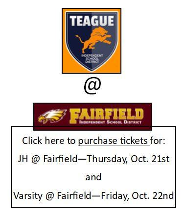 Teague at Fairfield Ticket Button