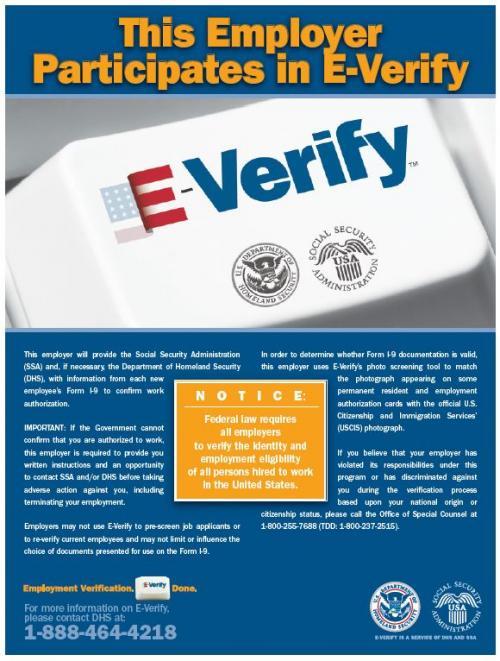E Verify Poster English