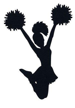 Silhouette of cheerleader