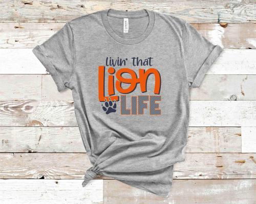 Lion Life Gray Tshirt