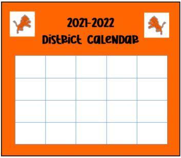 2021-2022 District Calendar Button