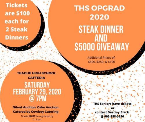 OP Grad Steak Dinner Info