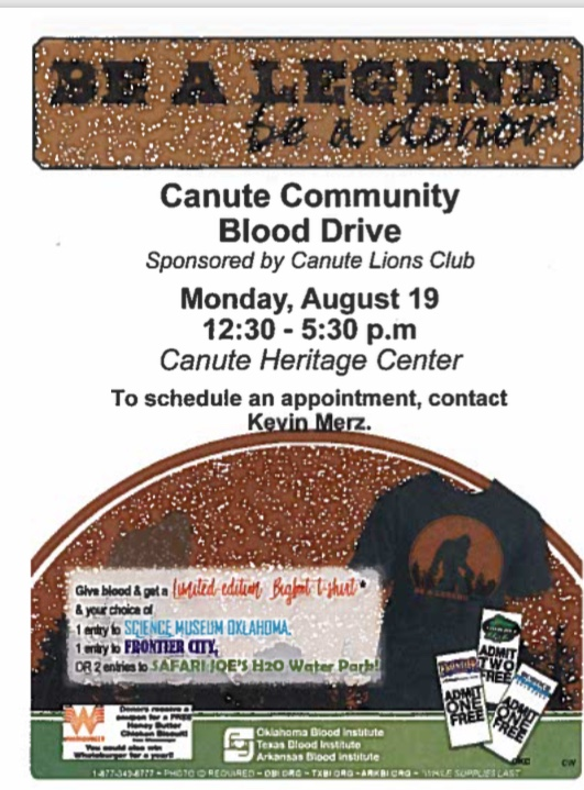 Canute Community Blood Drive