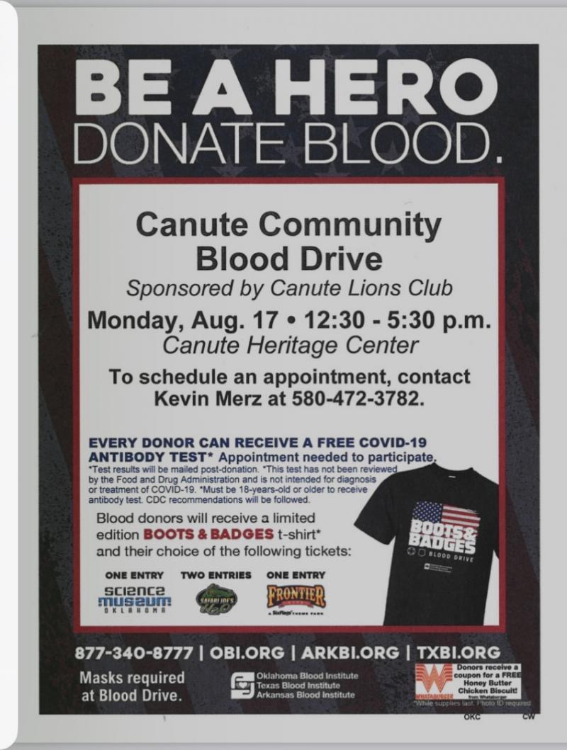 BLOOD DRIVE - AUG 17TH