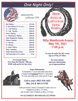 58th Annual LaPoynor Rodeo