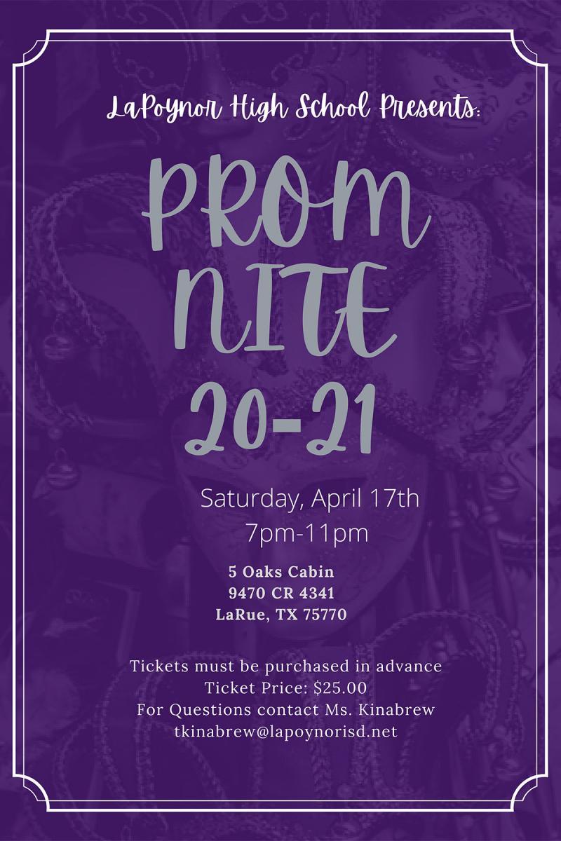 2021 Prom Information