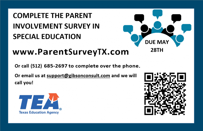 Parent involvement survey for Special Education