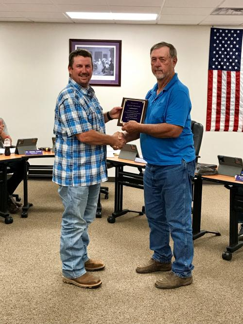 At the October board meeting LaPoynor ISD Board President recognized Board Member Keith Bristow In appreciation for 23 years of dedicated service as a member of the LaPoynor ISD Board of Trustees.