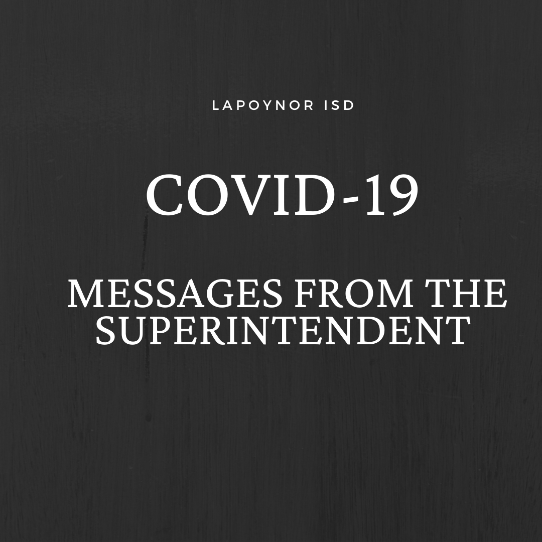 Messages from LaPoynor ISD Superintendent