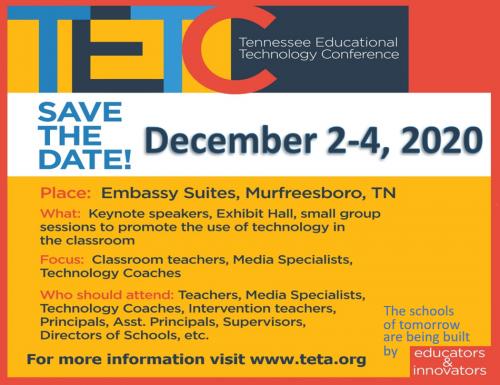 TETC Save the Date - December 2-4, 2020