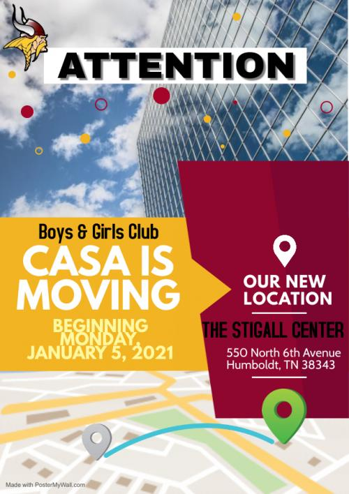 Boys & Girls Club CASA Moving to the Stigall Center