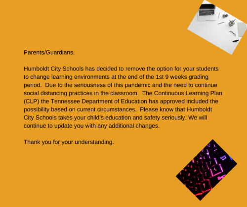 Virtual Learning Update