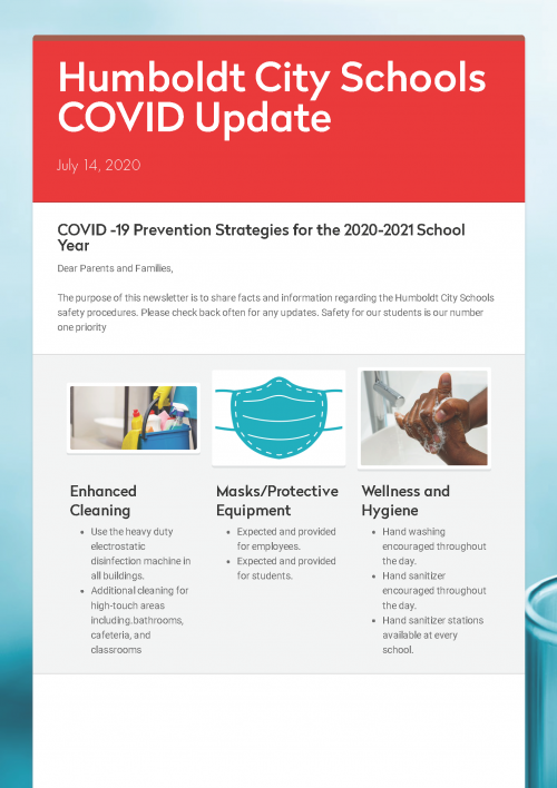 HCS COVID Update Page 1