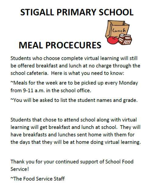 Stigall Meal Procedures
