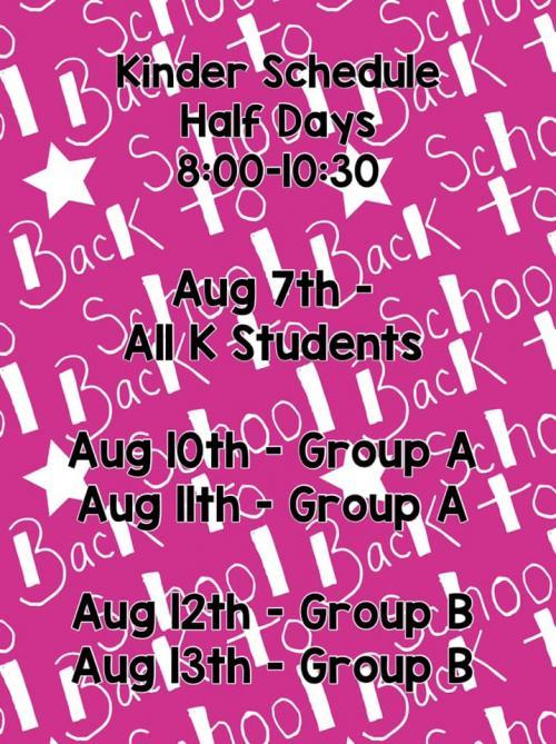School Opening Schedule