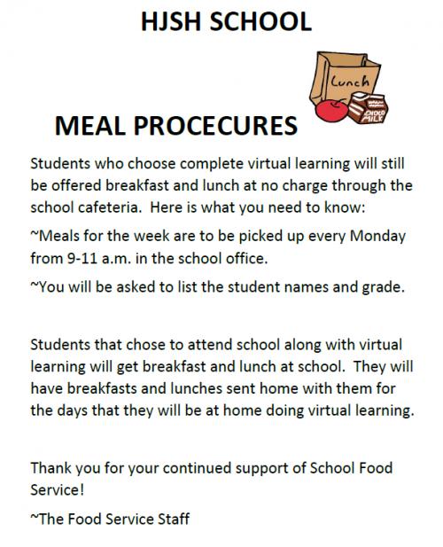 HJSH Meal Procedures