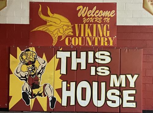 Viking sign in gym