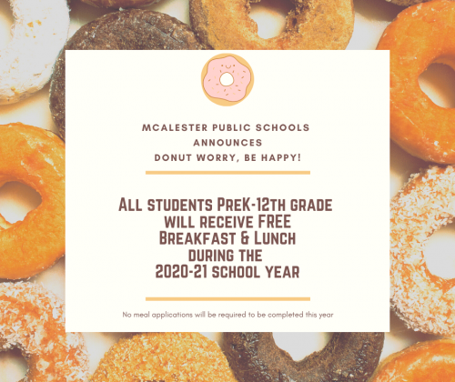 Free Breakfasts & lunches for all students flyer