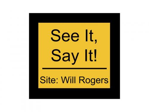See It, Say it! Button for Will Rogers