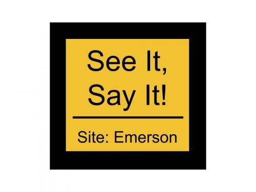 See It, Say it! Button Emerson