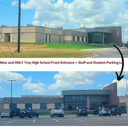 New THS Entrance, Student/Staff Parking Lot