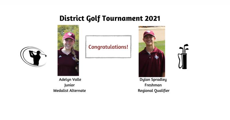 THS Golf Advances at District