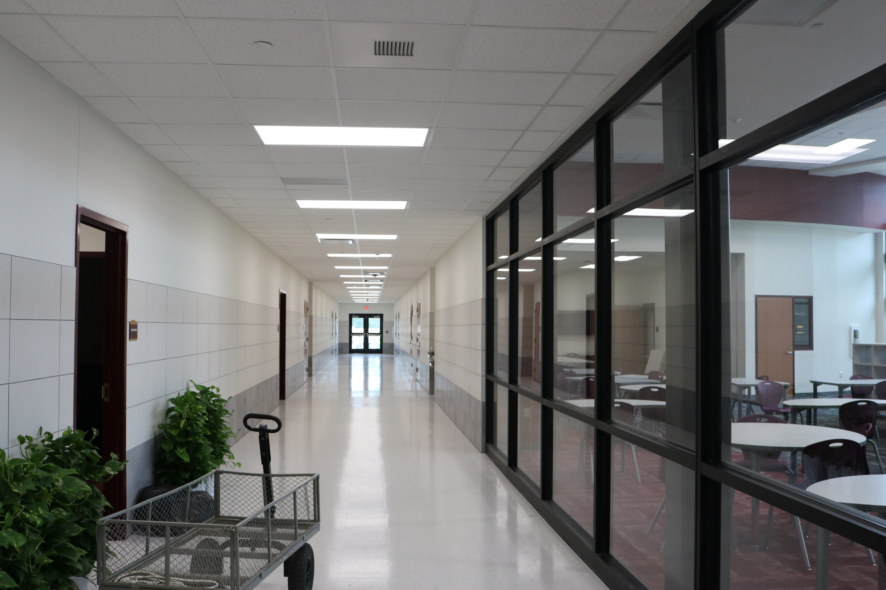 ELA Hallway, Media Center