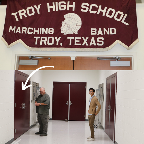 Entrance/Exit Hallway Exclusive for Band Use