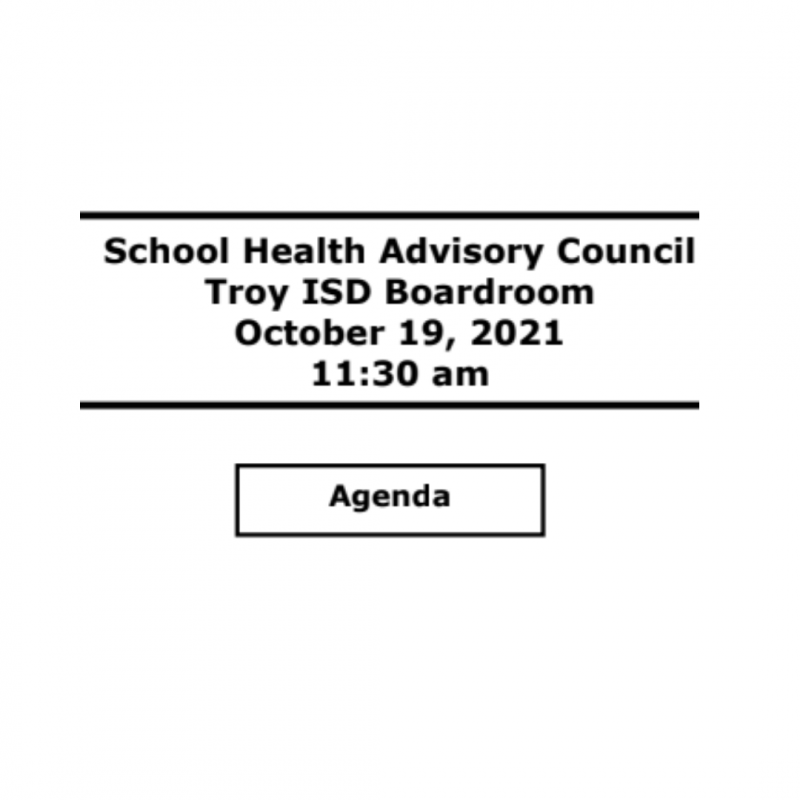 School Health Advisory Council Meeting Agenda