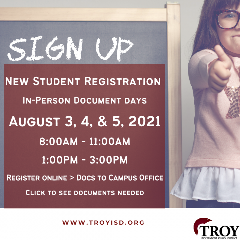 New Student Registration 2021-2022